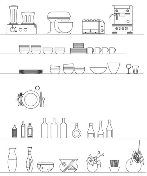 archweb cucina 187 accessori dwg