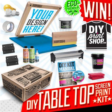 design milk diy table top diy screenprinting kit giveaway from diy print
