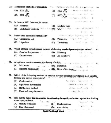 Question Paper Pattern Of Engineering | pgcet old question papers for civil engineering 2018