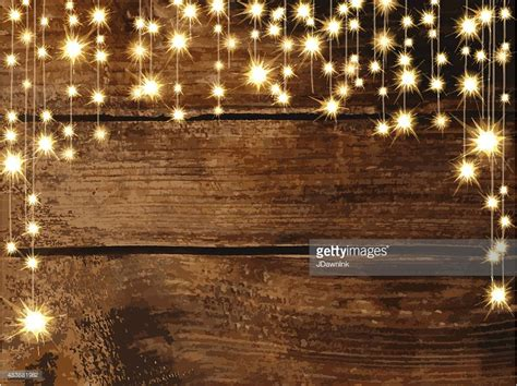 rustic string lights wooden background with string lights vector getty images