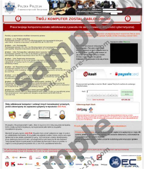 Anti Virus Komputer tw 243 j komputer zosta蛯 zablokowany virus