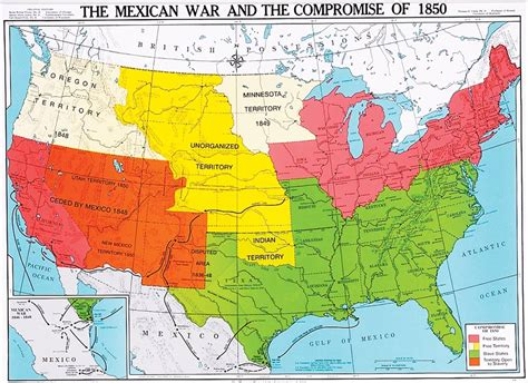 us history map the mexican war and the compromise of 1850 u s history map