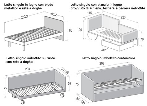 letto singolo misure le misure degli armadi dielle
