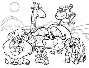 wild animals cartoon coloring stock vector 169 izakowski 41568957