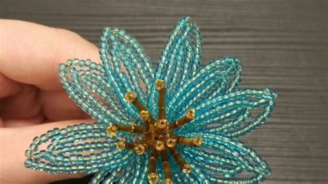 how to make beaded flowers how to make an amazing beaded flower diy crafts tutorial