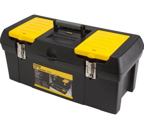 new stanley 24 inch tool box with tote tray box from stanley is designed to last ebay