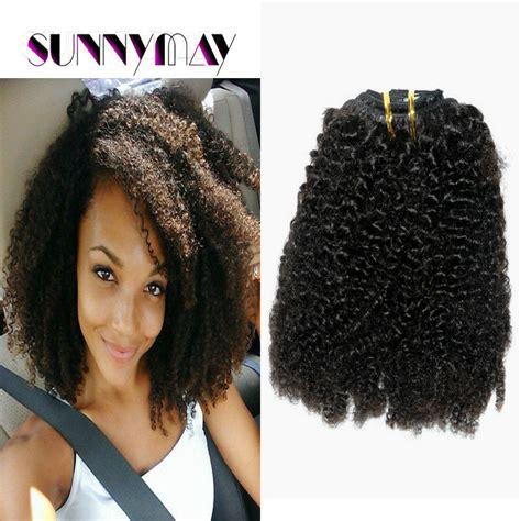kinky hairpieces for black women sunnymay stock 7abrazilian virgin hair clip in hair