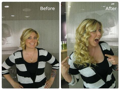 before and after clip on extensions short hair the safest and cheapest hair extension method for short