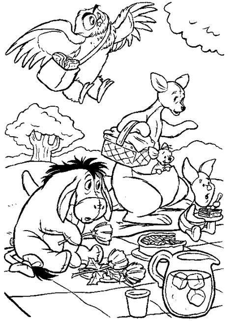 free coloring pages of winnie the pooh and friends