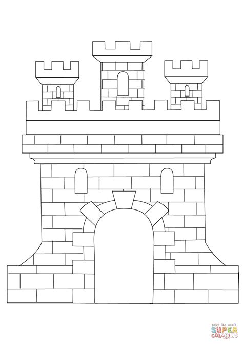 castle coloring page castle coloring page free printable coloring pages