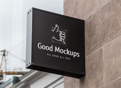 Free Outdoor Advertisment Wall Sign Logo Mockup Psd Good Mockups Sign Mockup Template