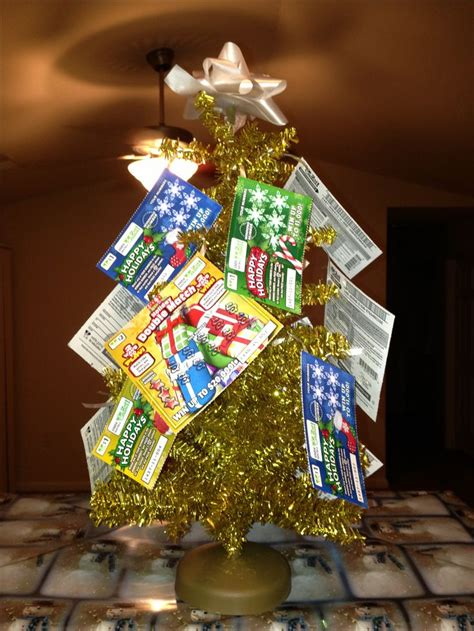 christmas trees decorated with scratch tickets best 25 lottery ticket tree ideas on lottery ticket gift lottery tickets