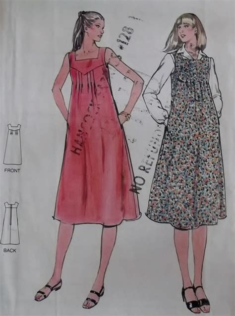 jumper uniform pattern vintage misses maternity jumper dress butterick 5890