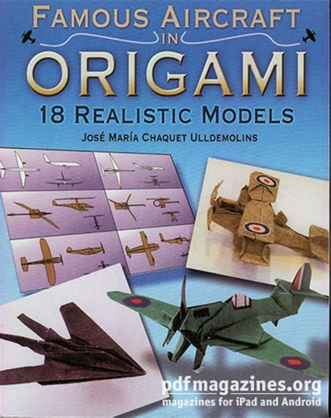 Origami Books Free Pdf - aircraft in origami 18 realistic models 187 pdf