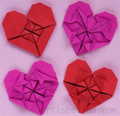 Beautiful Origami Models - s day hearts new origami models origami
