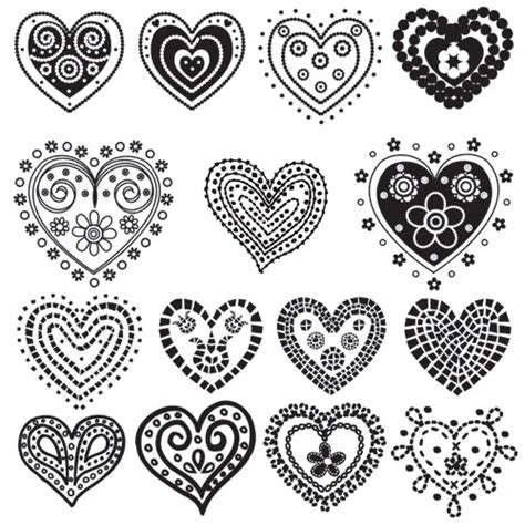 pattern design heart gorgeous hearts free printables