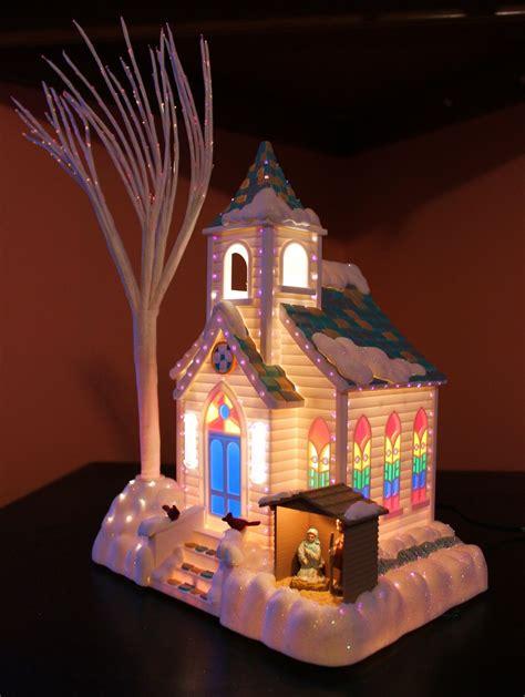 lighted avon houses avon s splendor fiber optic lighted church table decor serving pieces