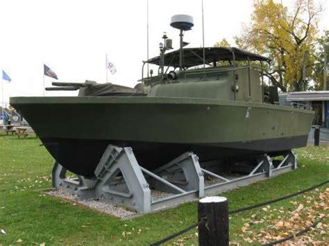 lci 880p small boat trailer vietnam era patrol boat river pbr on display in