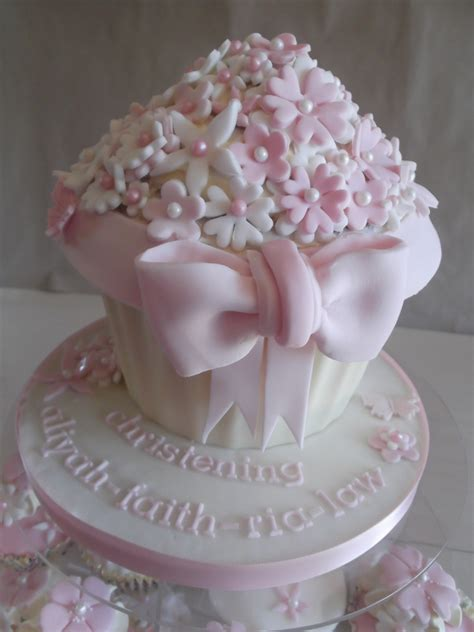 Giant Cupcake Christening Cakecentral M