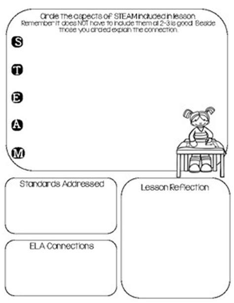 Forever Freebie Steam Stem By Krafty Teacher Teachers Pay Teachers Stem Lesson Plan Template
