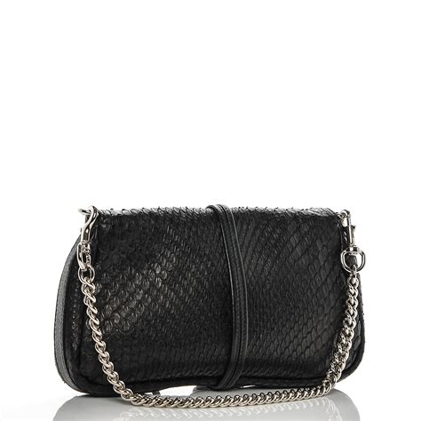 Gucci Evening Bag by Gucci Python Bamboo Croisette Evening Bag Black 187567