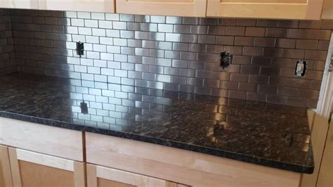 Stainless Steel Backsplash From Lowe S Youtube Lowes Stainless Backsplash