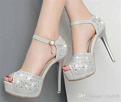 Xoxo Heels Silver 12cm 12cm silver sequins shoes high heel sandal shoes evening shoes bridal