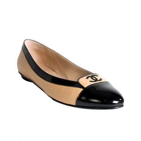 chanel shoes ballet flats chanel cap toe ballerina flats shoes size 42