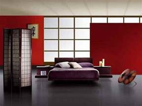 bedroom japanese style bedroom furniture with red wall