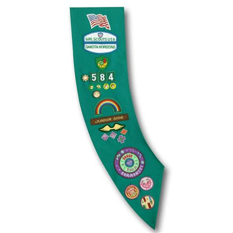 junior sash and vest junior girl scout images junior girl scoutsash regular