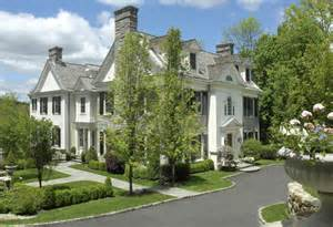 French Country Property For Sale - stone and clapboard georgian estate in greenwich ct homes of the rich