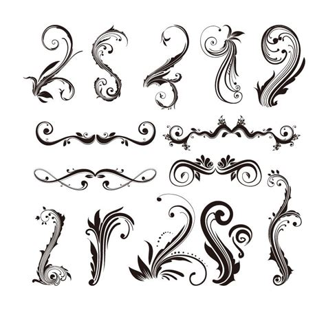 Ornament Design Elements Vector Set | ornament design elements vector set free vector graphics