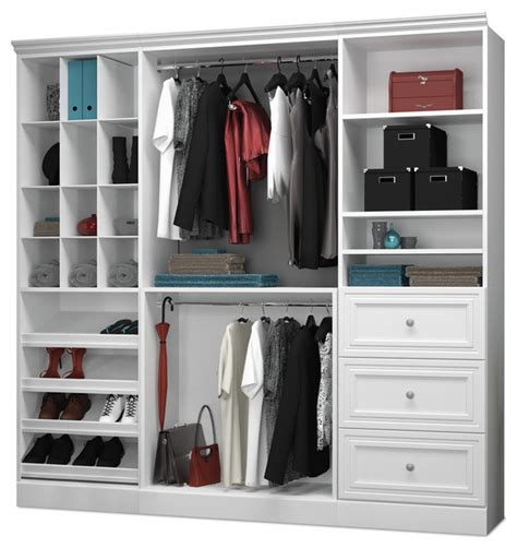 Closet Organizer Kits With Drawers by Versatile By Bestar 86 Classic Kit White Transitional