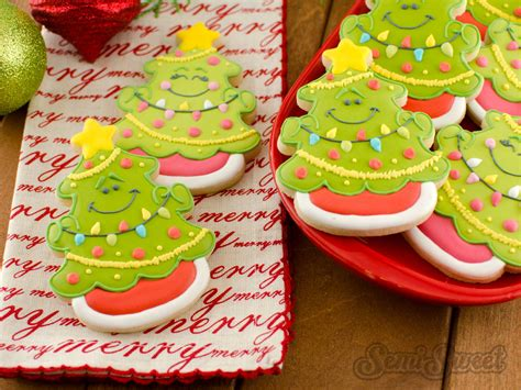 how to make christmas tree cookies semi sweet designs