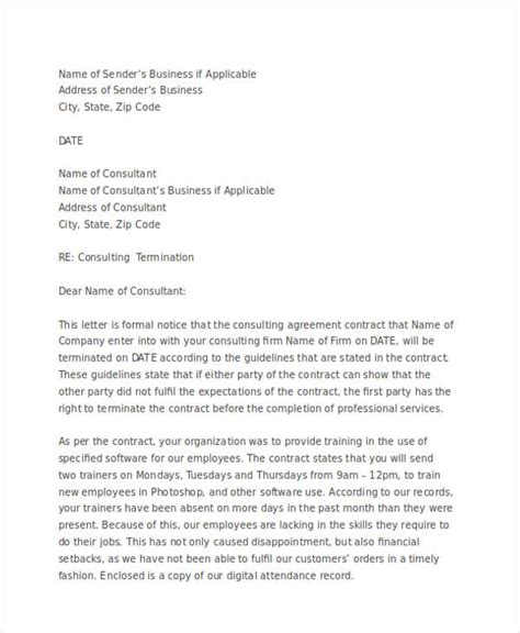 termination letter for professional services 28 images