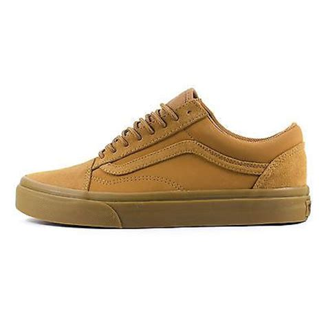 Sepatu Leather Vans Brown details about mens vans skool suede tobacco brown