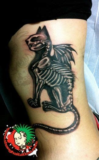 cool cat tattoo cool skeletal cat alter culture