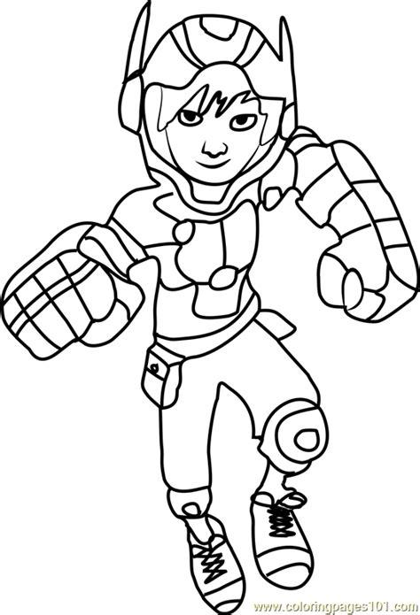 hiro hamada coloring page free big hero 6 coloring pages