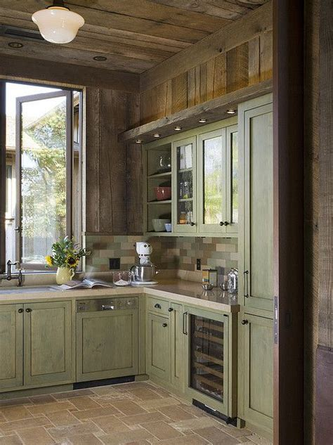 rustic green kitchen cabinets rustic kitchen 5 green cabinets green kitchen and cabinets