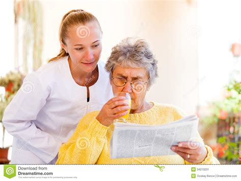 elderly home care stock image image 34213231