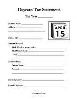 end of year daycare receipt template free selection of daycare end of year tax statement forms