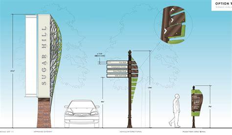 hill design concept gateway sign at alton tucker