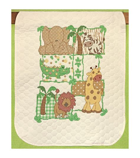 Dimensions Baby Quilt by Dimensions Sted Cross Stitch Kit Kimba Baby Quilt Jo