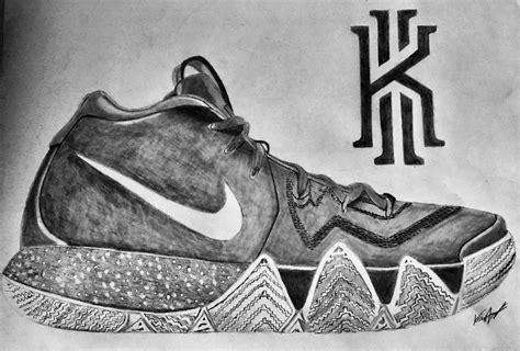 Kyrie 4 Sketches by Nike Kyrie 4 Drawing By Bigken20 On Deviantart