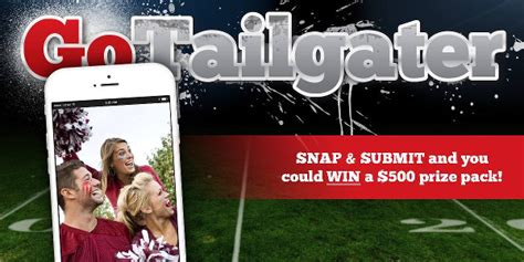 Tailgate Giveaway Ideas - tailgating photo contest win 500 prize pack tailgating