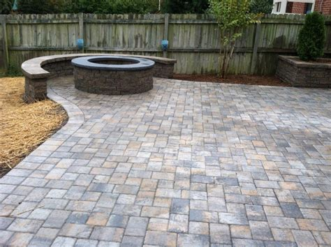 Paver Patio With Fire Pit Pavers Around Fire Pit Paver Patio Designs With Pit
