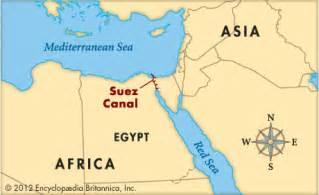 Suez Canal In World Map by Suez Canal Kids Encyclopedia Children S Homework Help