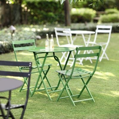 Green Bistro Chairs Home Decorators Collection Follie Green Outdoor 3 Patio Bistro Set 1356810610 The Home Depot