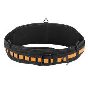 toughbuilt padded belt with steel buckle and back support