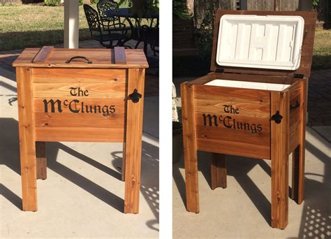 outdoor cedar chest cooler stand greater houston